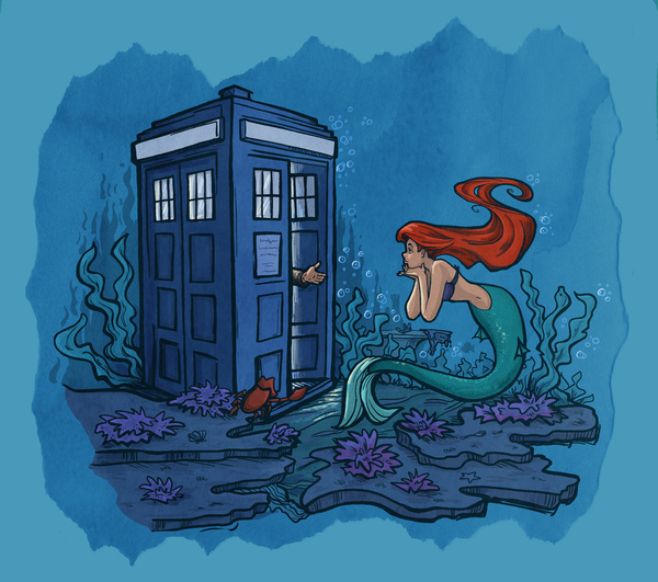 disney-princess-ariel-doctor-who-mashup-bykaran-hallion
