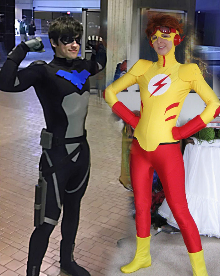 young_justice_nightwing_kid_flash_cosplay2